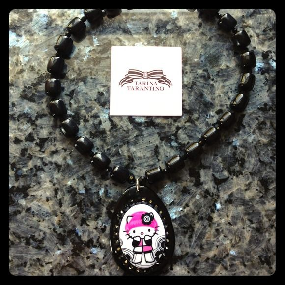 Tarina Tarantino Jewelry - Tarina Tarantino Pink Head Hello Kitty Necklace