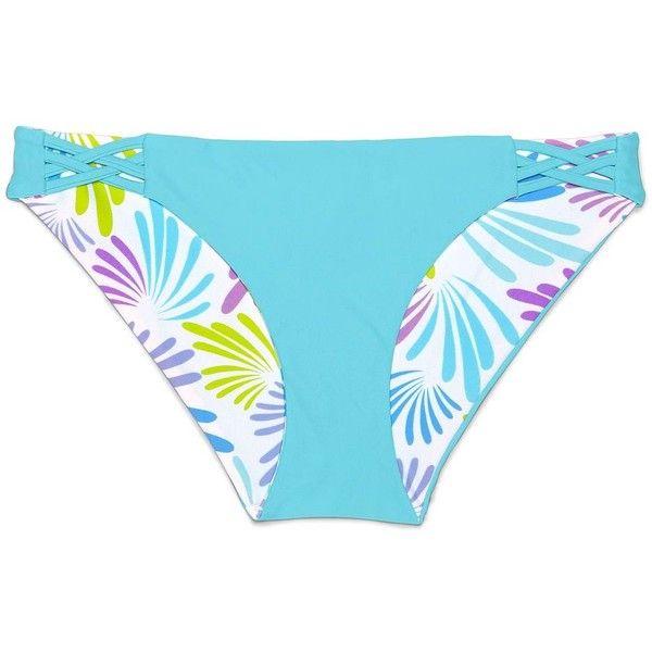 Lands' End Women's Reversible Low Waist Bikini Bottoms ($8.99) ❤ liked on Polyvore featuring swimwear, bikinis, bikini bottoms, lands end swim wear, nylon swimwear, reversible swimwear, reversible bikinis and swim bikini bottoms