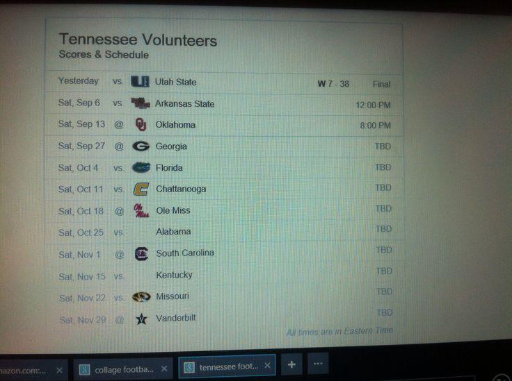 Tennessee schedule