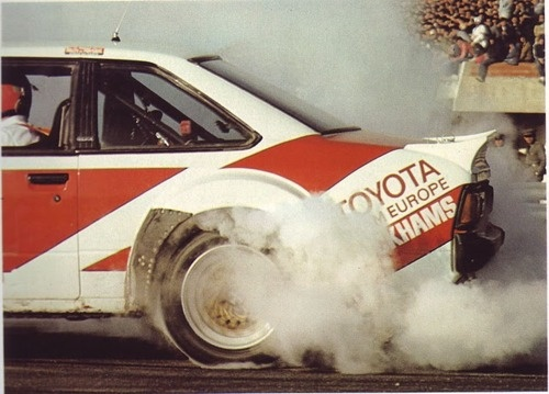 Team Europe Toyota Celica GT4 burnout