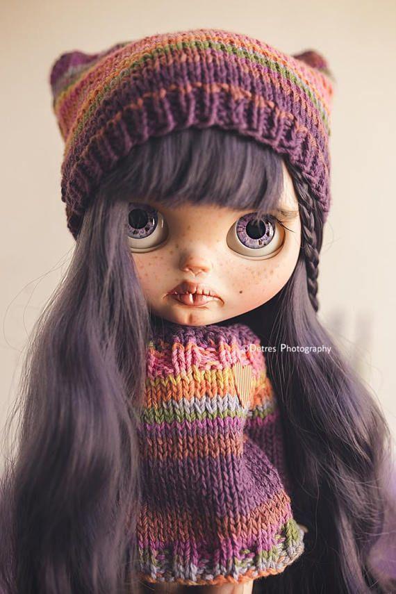AMAYA Fialové vlasy Blythe Doll PRODEJ