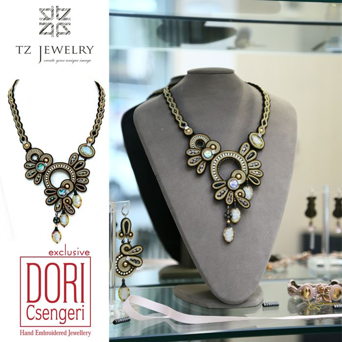 #DoriCsengeri #soutache #exclusive #jewelry #TZjewelry #unique #necklace