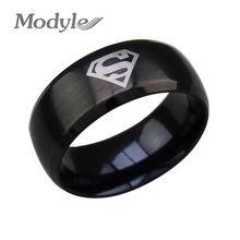 2016 nieuwe mode superman ring rvs trouwringen voor vrouwen en mannen(China (Mainland))