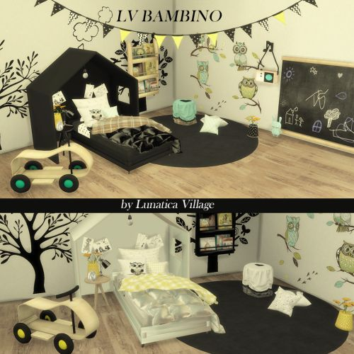 Sims 4 CC's - The Best: Kidsroom by LunaticaVillage http://amzn.to/2qWZ2qa
