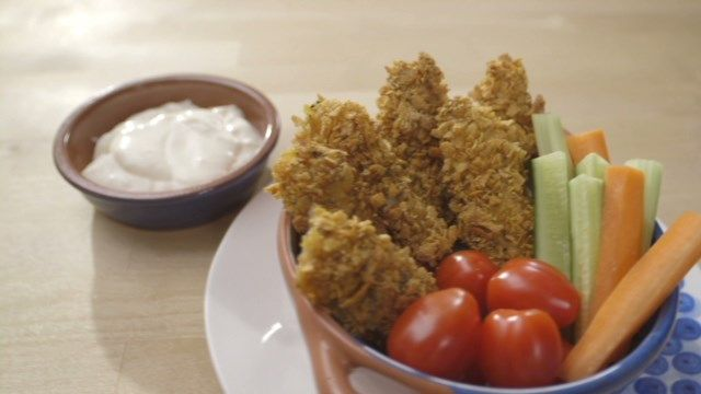 Bâtonnets de poisson pané et mayo au citron   Cuisine futée, parents pressés
