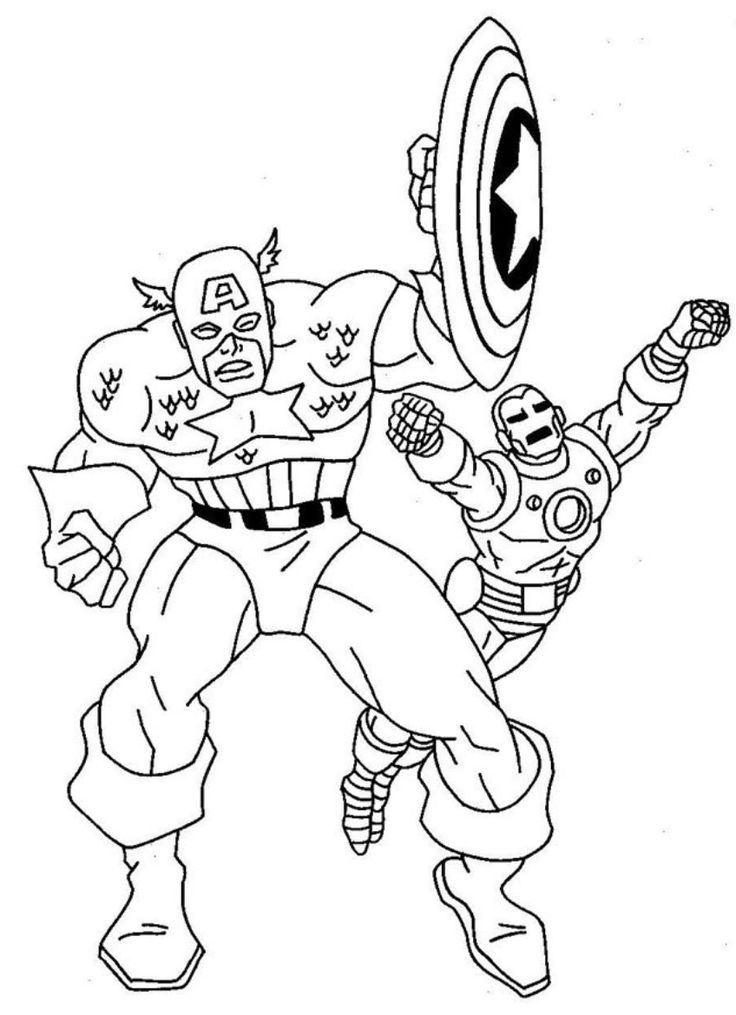boy superhero coloring pages - photo#3