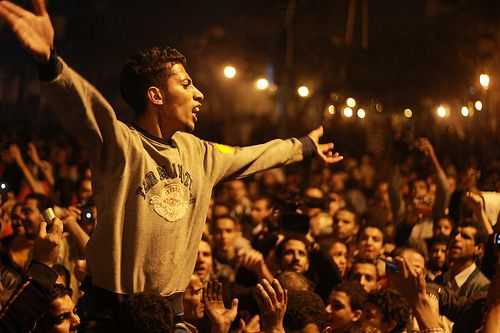 In a scene iconic of the Arab Spring, hundreds of thousands of protesters flooded Tahrir Square.  Photo: Mosa'ab Elshamy (Flickr).