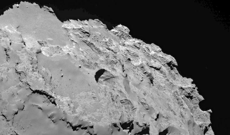 Rosetta spacecraft sees sinkholes on comet: Unprecedented imagery peers beneath the surface of comet 67P/Churyumov-Gerasimenko -- ScienceDaily