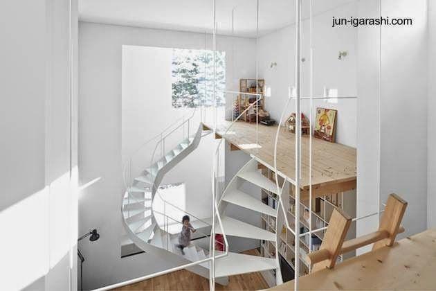 En la arquitectura interior japonesa las escaleras y - Escalera japonesa ...
