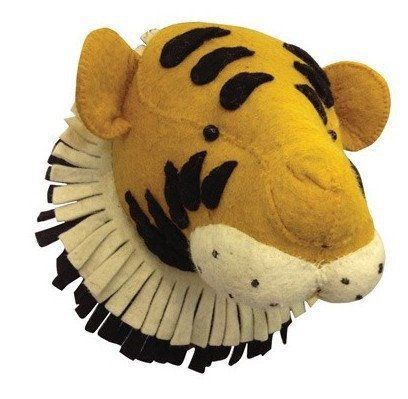Tiger Stuffed Animal Wall Mount Faux Taxidermy Animal Head Nursery Baby Toddler Kids