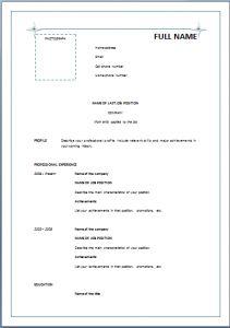 simple resume format doc file sainde org