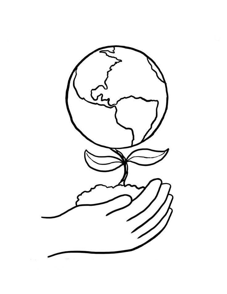 dibujo del planeta tierra para colorear
