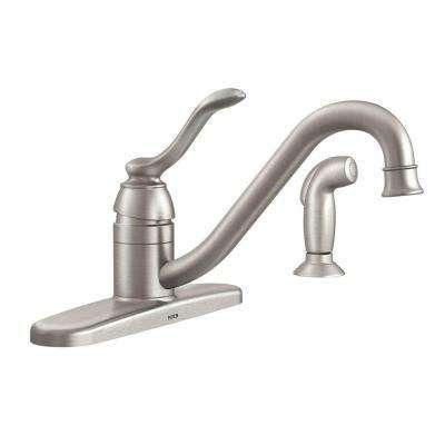 Banbury Single-Handle Standard Kitchen Faucet with Side Sprayer in Spot Resist Stainless