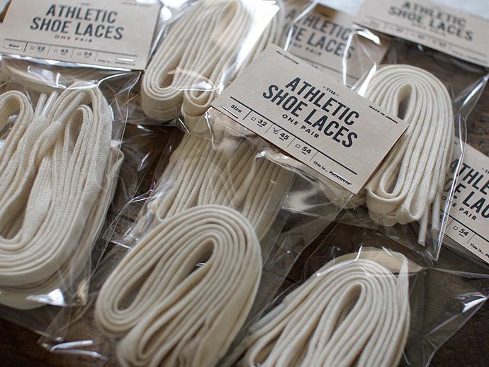 japanese made all-cotton athletic shoe laces