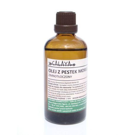 Olej z Pestek Moreli Zimnotloczony - Wymarzony olej do naturalnej pielęgnacji skóry! Dzięki zawartości witamin A, D i E oraz kwasów tłuszczowych intensywnie nawilża i odżywia skórę. Doskonały olej do masażu - również delikatnej skóry Maluszków. Możesz wykorzystać go w serach anti-age, czy balsamach myjących do twarzy.