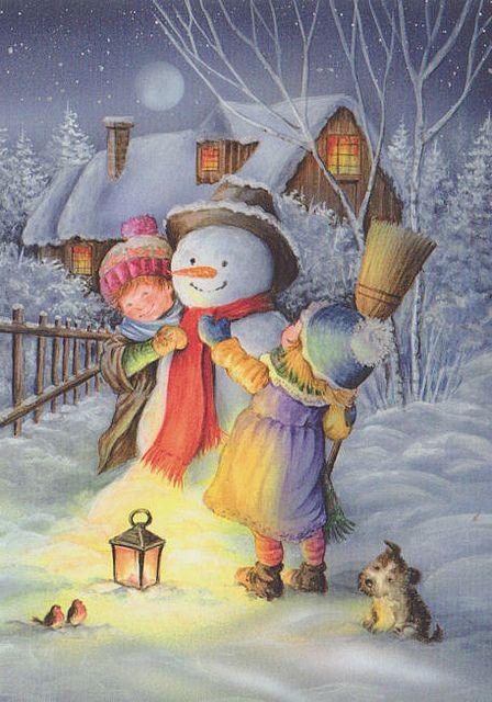 Fixing the Snowman | Flickr - Photo Sharing! by Lisi Martin Enjoy free #christmas screensavers at www.fabuloussavers.com/christmasscreensavers.shtml Merry Christmas!!!