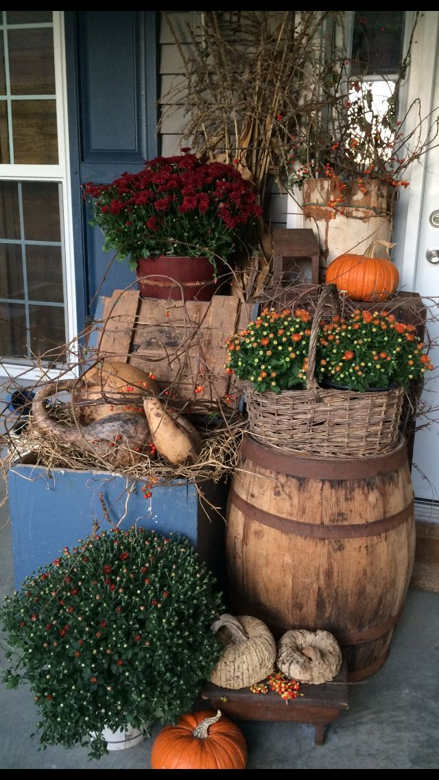 Decorate your porch area for the Fall right through Thanksgiving!