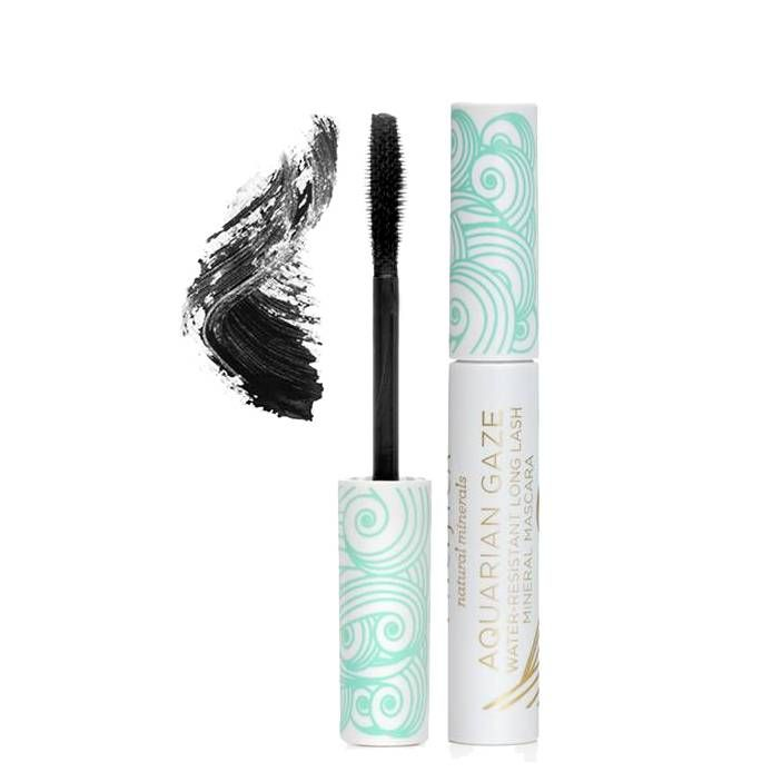 Zwarte waterbestendige en wimperverlengende mascara met volume-boostende borstel. vol natuurlijke voedende en hydraterende…