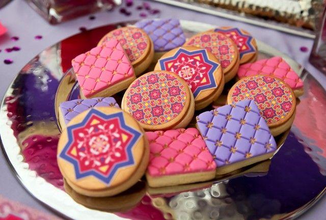 étoile marocaine comme déco sur un biscuit