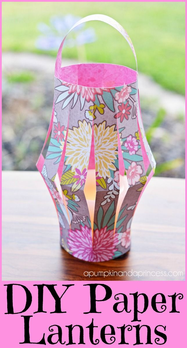 DIY Paper Lanterns! Perfect for a kids summer time craft! So fun for those summer nights!