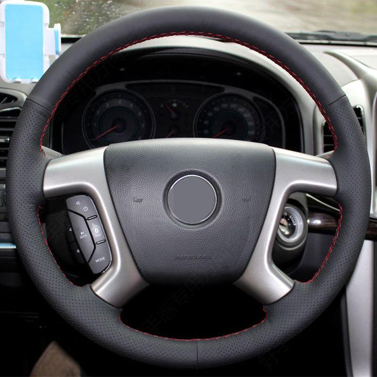 Black Artificial Leather Car Steering Wheel Cover for Chevrolet Captiva 2007-2014 Silverado GMC Sierra 2007-2013 Daewoo Winstorm