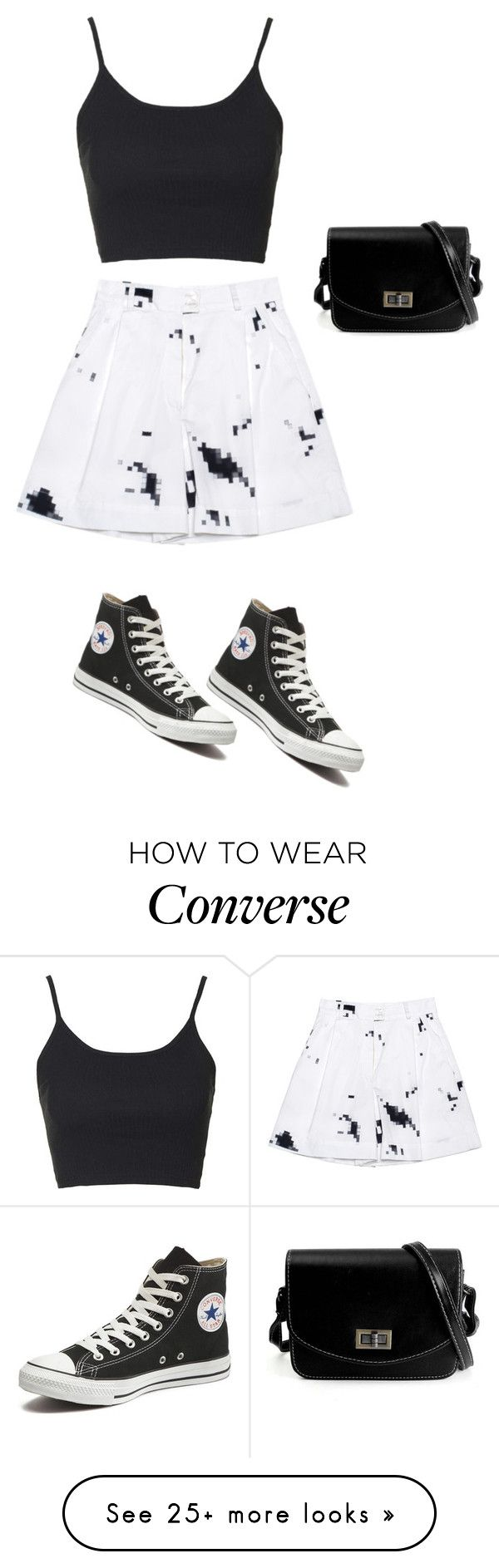"""""""Untitled #1275"""" by sylviabunny on Polyvore featuring Ksenia Schnaider, Topshop and Converse"""