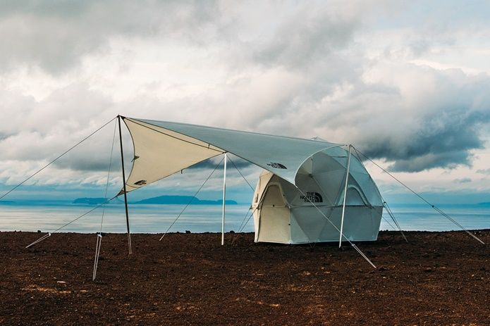 なにこれ芸術 ザ ノース フェイス ジオドーム4 を美しく演出するタープ フライがリリース テント アウトドア 今夏