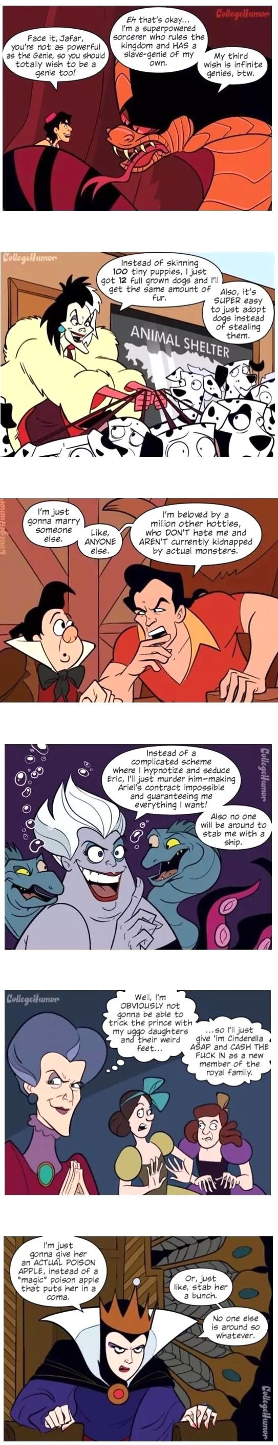 If Disney Villains Were Actually Smart - 9GAG. Sorry for the language.