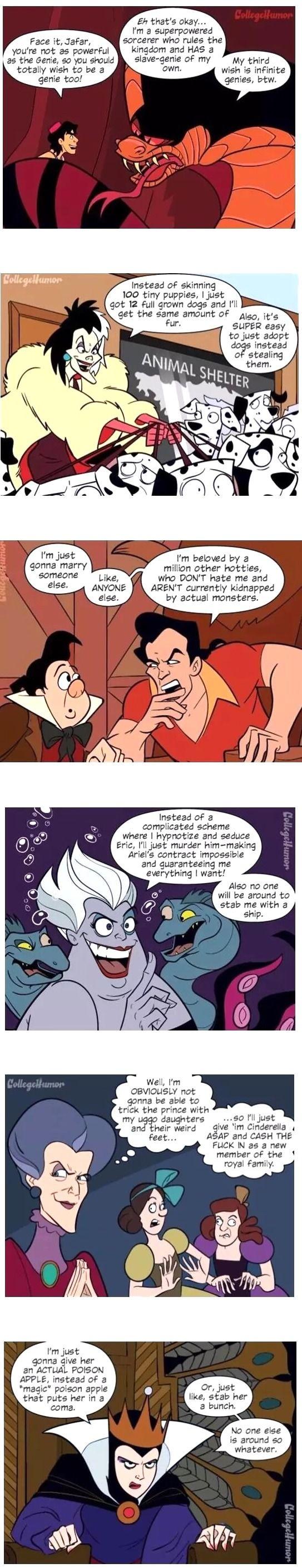 If Disney Villains Were Actually Smart... xD