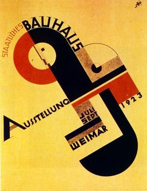 The original Bauhaus Exhibition poster, created by students at the Bauhaus Design College. I love the almost mechanical design of this poster, as if it is a diagram of a machine, about to spring into action. There is a bold and liberal use of colour which is really effective.