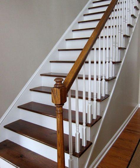17 meilleures id es propos de repeindre les meubles en bois sur pinterest repeindre les for Peut on peindre sur un escalier vitrifie
