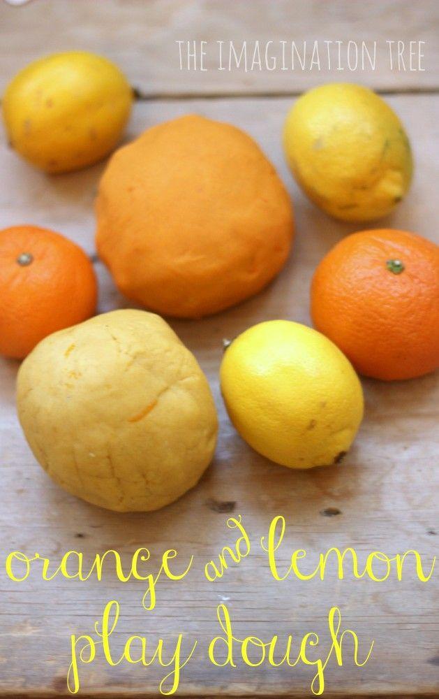 orange and lemon play dough recipe - sensory fun for kids