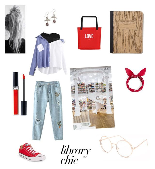 """books lover"" by irinaandreea-94 on Polyvore featuring Converse, NOVICA, Full Tilt and Christian Dior"