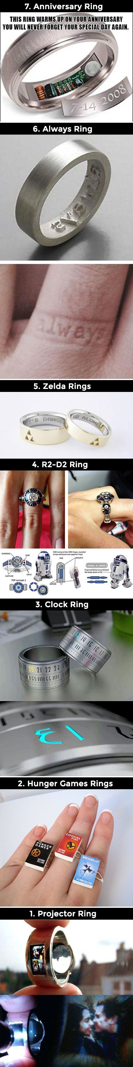 We have rounded up a batch of the geekiest rings you will ever see.