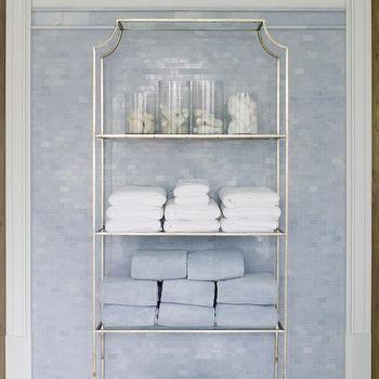 Silver Etagere, Traditional, bathroom, Phoebe Howard