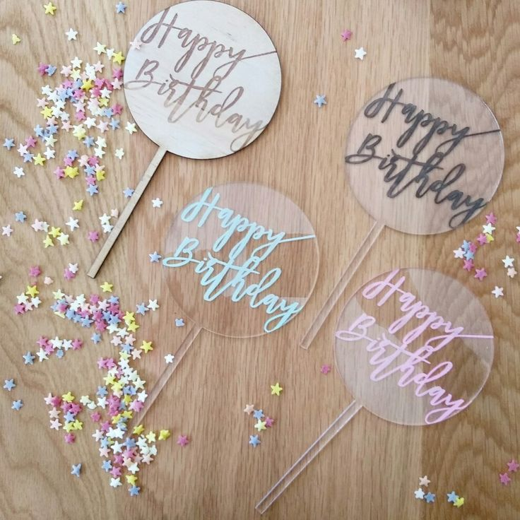 Say Happy Biryhday with a gorgeous acrylic cake topper. www.therusticatheart.com