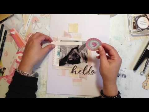 Kitaholic Kits - 9x12 Scrapbooking Process Video - April Kits