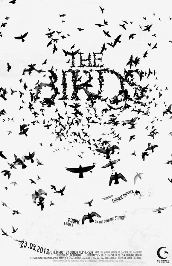 The Birds - Typography Poster. #poster