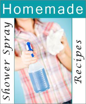 Homemade Shower Spray Recipes