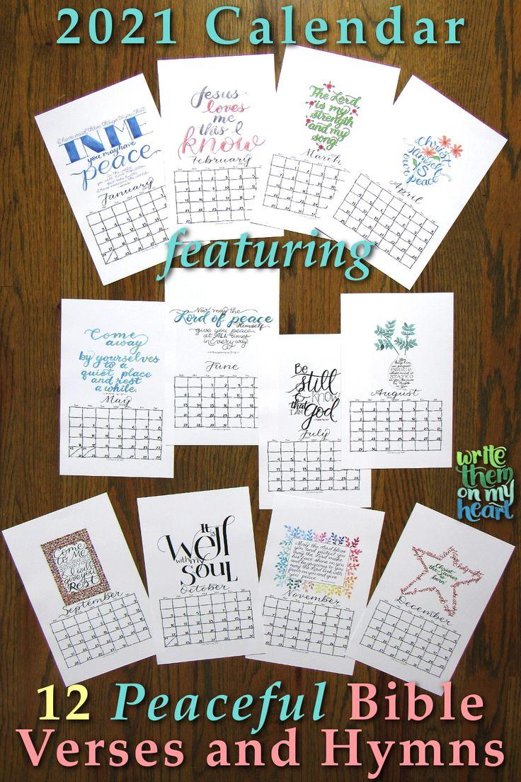 2021 Christian Printable Calendars Write Them On My