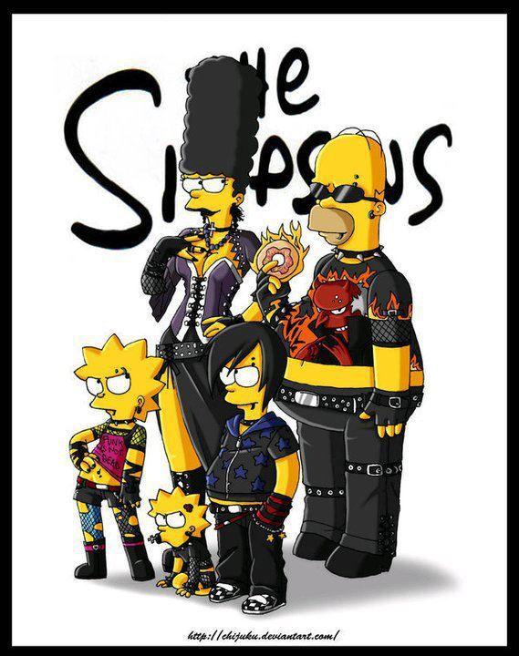 Goth Simpsons