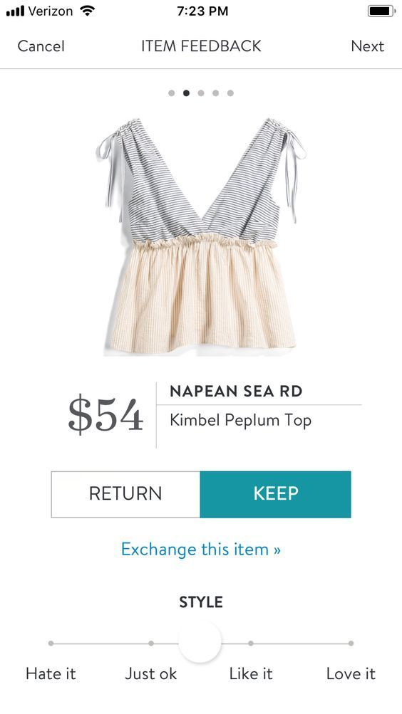 NAPEAN SEA RD Kimbel Peplum Top | Sign up today for STITCH FIX! Get items like this delivered to your door, keep what you want & return what you don't. SPRING & SUMMER TRENDS 2018! #stitchfix #influence