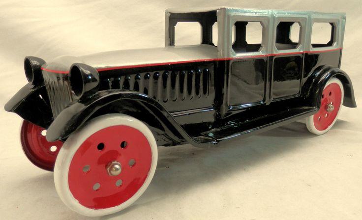 huge 1925 vintage original schieble sedan toy car buddy l. Black Bedroom Furniture Sets. Home Design Ideas