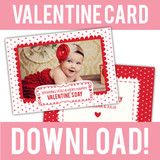 free valentine card template for photographers