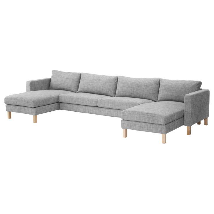 KARLSTAD 2 chaise longues + three-seat sofa - Isunda grey - IKEA - $1237