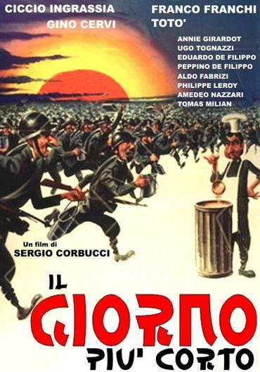 """The Shortest Day (1963) """"Il giorno più corto"""" (original title) Stars: Ciccio Ingrassia, Franco Franchi, Gino Cervi, Totò, Annie Girardot ~  Director: Sergio Corbucci"""