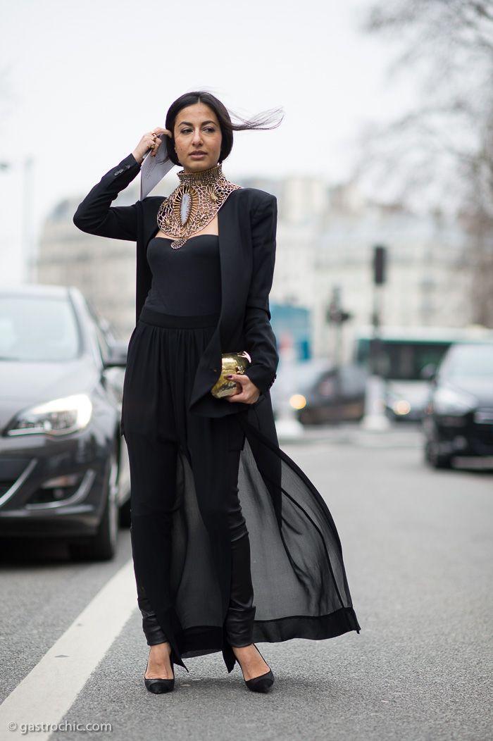Nausheen Shah at Dries Van Noten #streetstyle #PFW #fashion on http://www.gastrochic.com