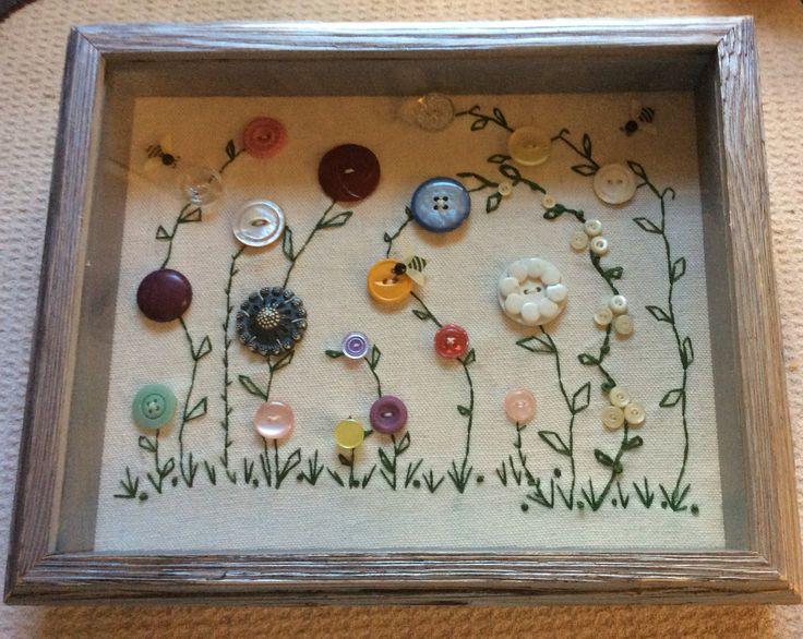 My mom's button box.....by Debbie Valentino 2015