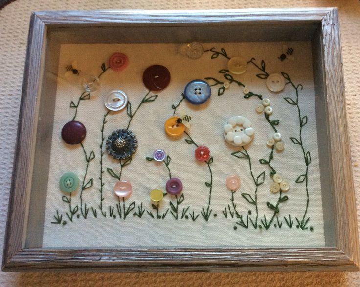 My mom's button box.....by Debbie Valentino 2015