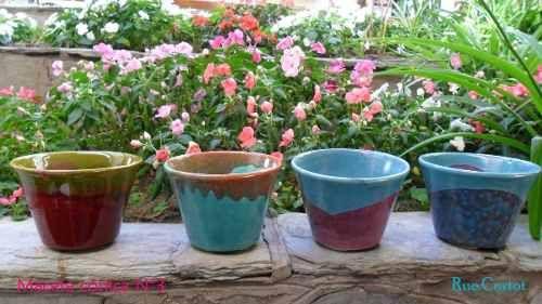 Macetas c nicas 14 x 10 de cer mica esmaltadas 60 00 Macetas ceramica online